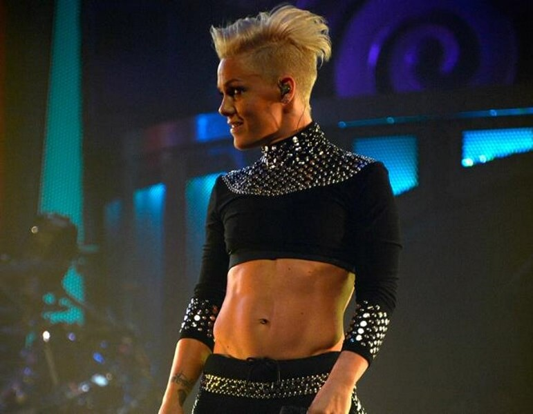 Pink and Her Amazing Abs on Stage