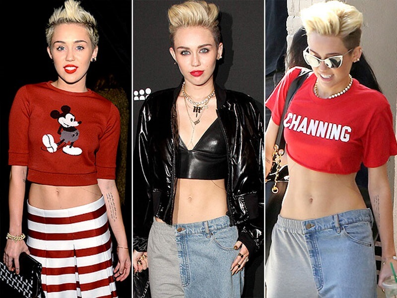 You Can Break Bricks on Miley's Six-Pack Abs