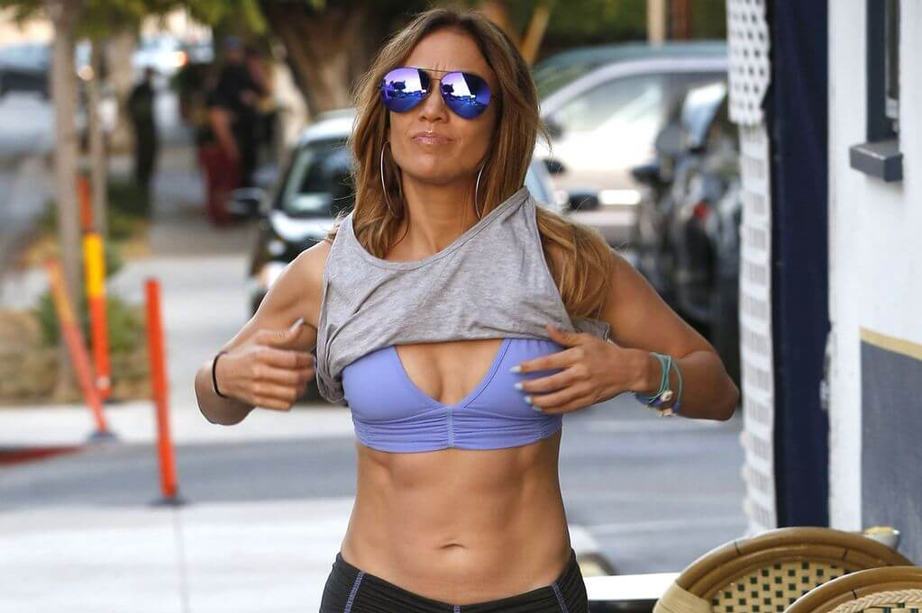 J-Lo's Abs Are so Tight, She Has to Wear Shades