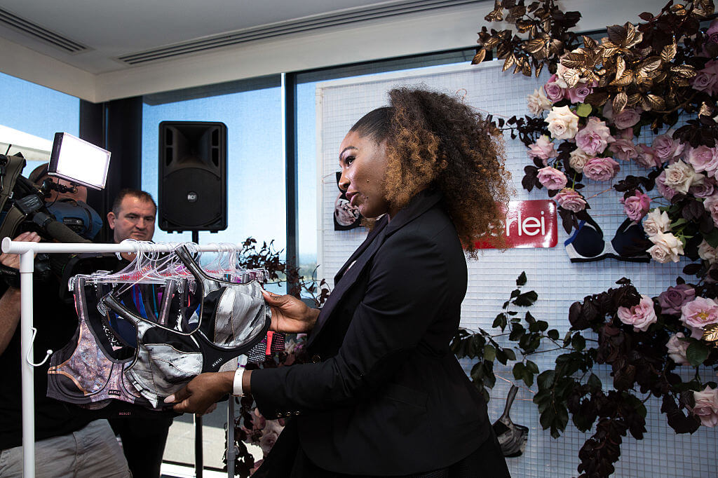 serena williams learned she was pregnant at a lingerie event
