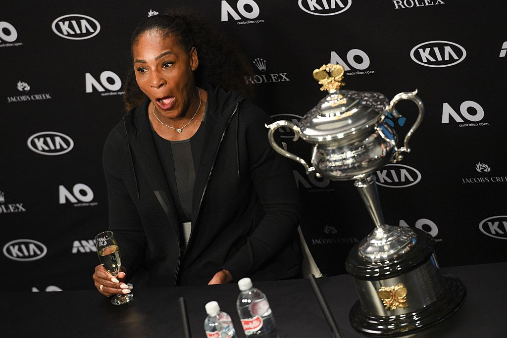 serena williams won the australian open while pregnant