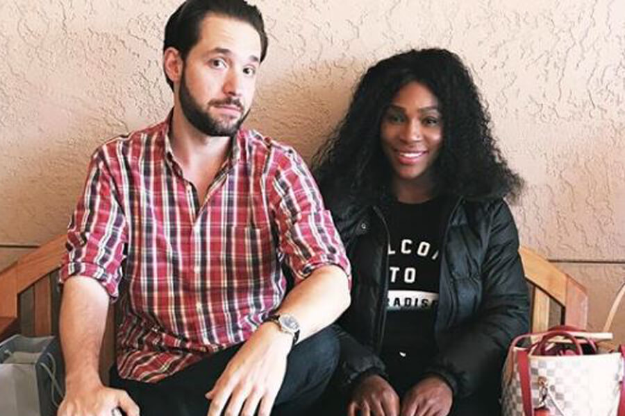 alexis ohanian and serena williams didnt know whe the other was when they met