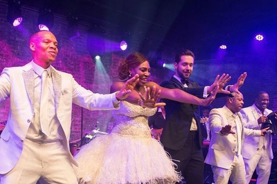 serena williams and alexis ohanian wedding