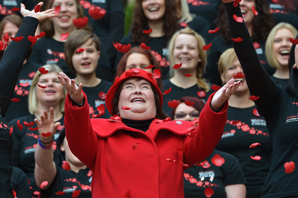 Susan Boyle Launches Poppy Scotland Appeal