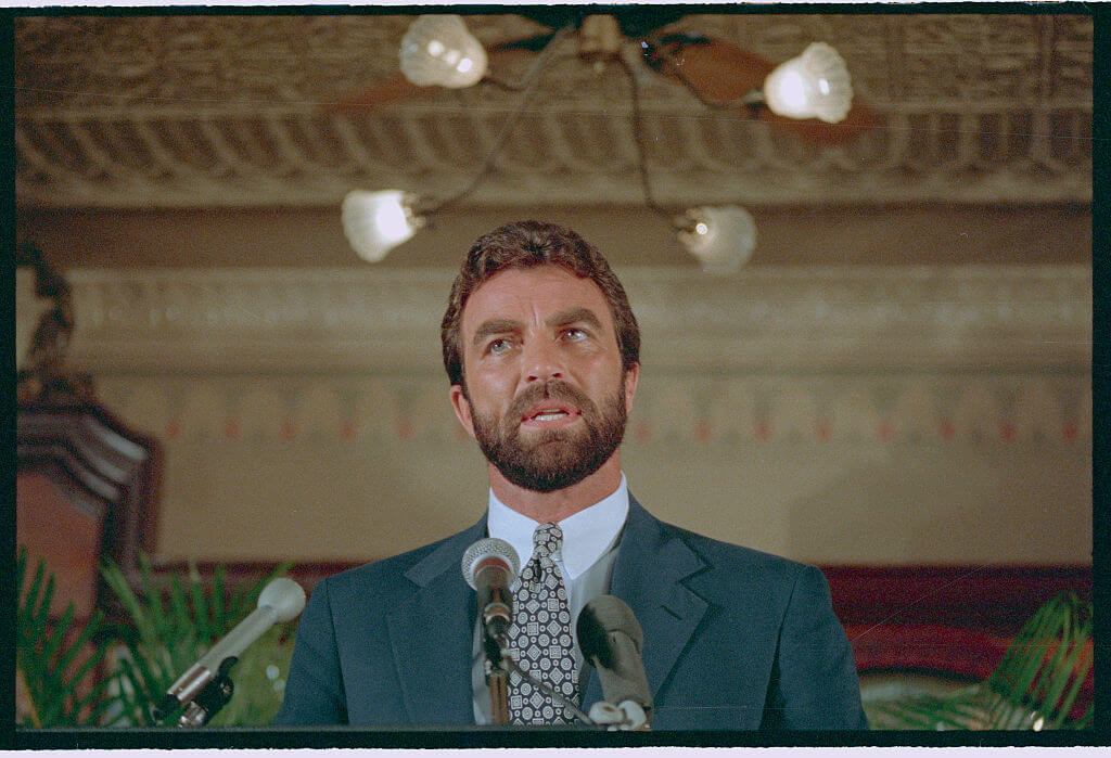Portrait of Tom Selleck