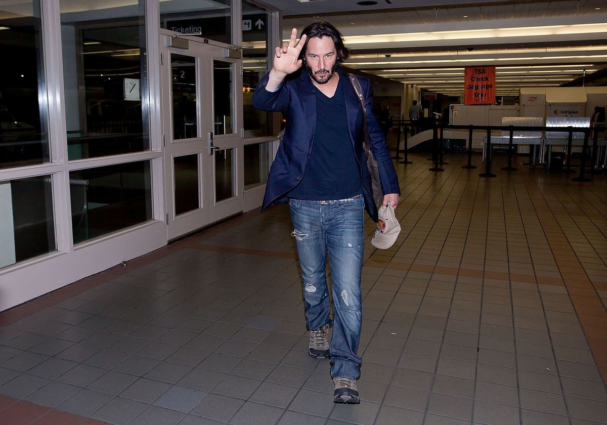 Keanu Reeves is seen at Los Angeles International Airport