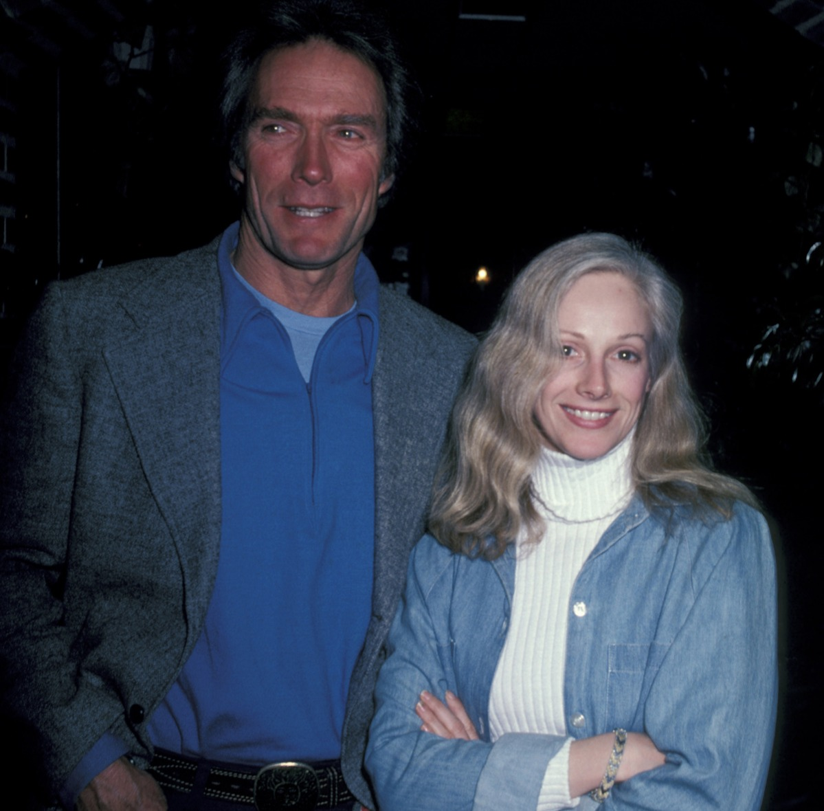Clint Eastwood and Sondra Locke during Clint Eastwood and Sondra Locke Sighting at Adriano's Restaurant - January 14, 1982