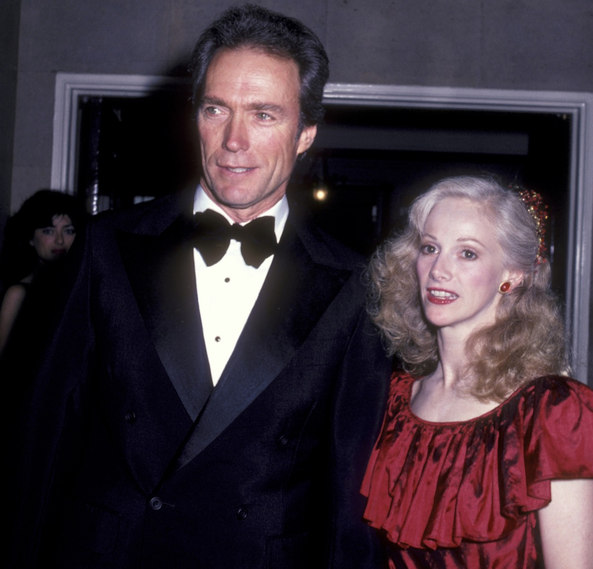 Actor Clint Eastwood and actress Sondra Locke attend the premiere party for 'Firefox' on June 14, 1982 at the Pierre Hotel in New York City.