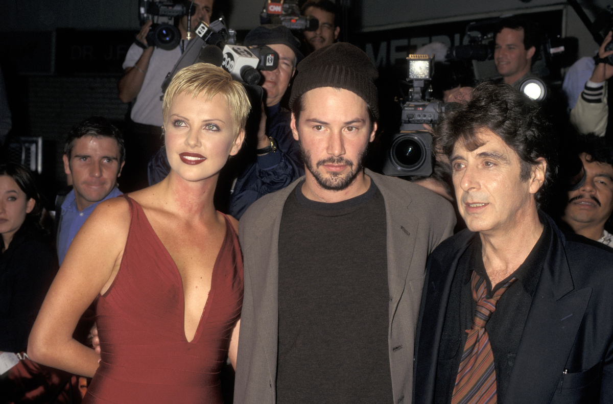 The Devil's Advocate premiere - Theron, Reeves, Pacino