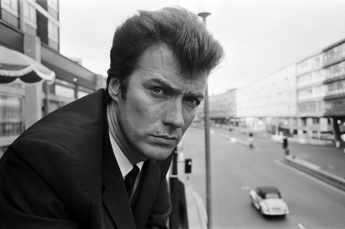 Clint Eastwood at the Albany Hotel on Smallbrook Queensway, Birmingham, 5th June 1967.