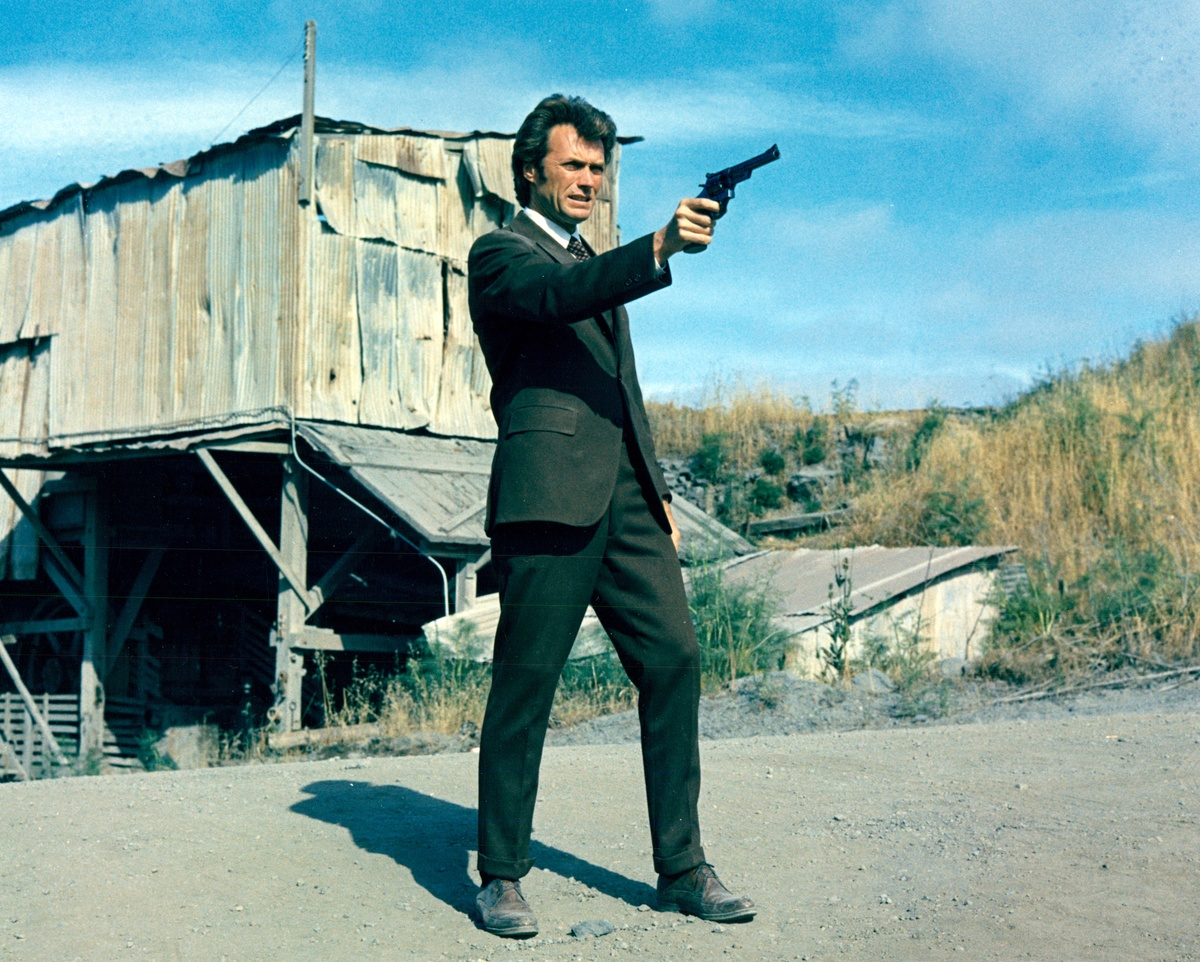 American actor Clint Eastwood as Inspector Harry Callahan of the San Francisco Police Department in the film 'Dirty Harry', 1971.