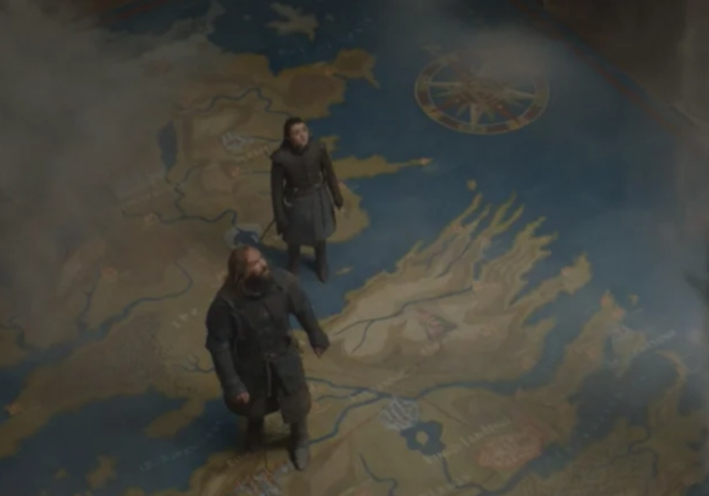 arya and the hound map