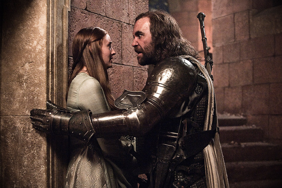 the hound sansa stark and arya stark