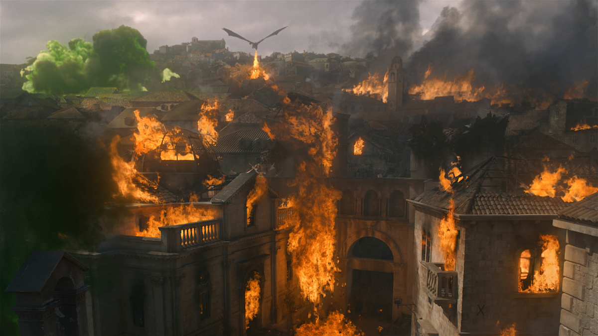 game of thrones wildfire explosions kings landing