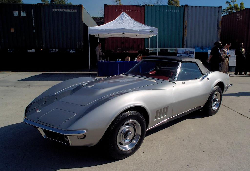 1968 corvette alan poster