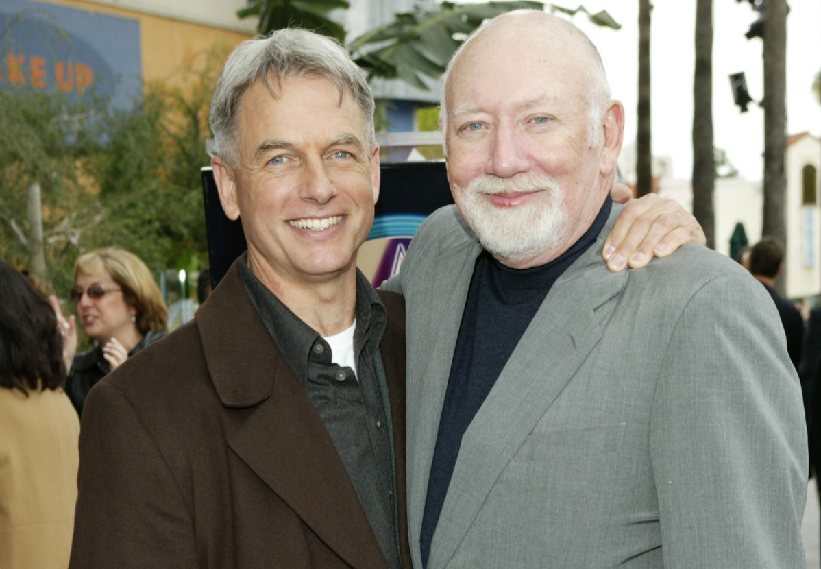Mark Harmon and Donald P. Bellisario during Donald P. Bellisario Honored with Star on the Hollywood Walk of Fame
