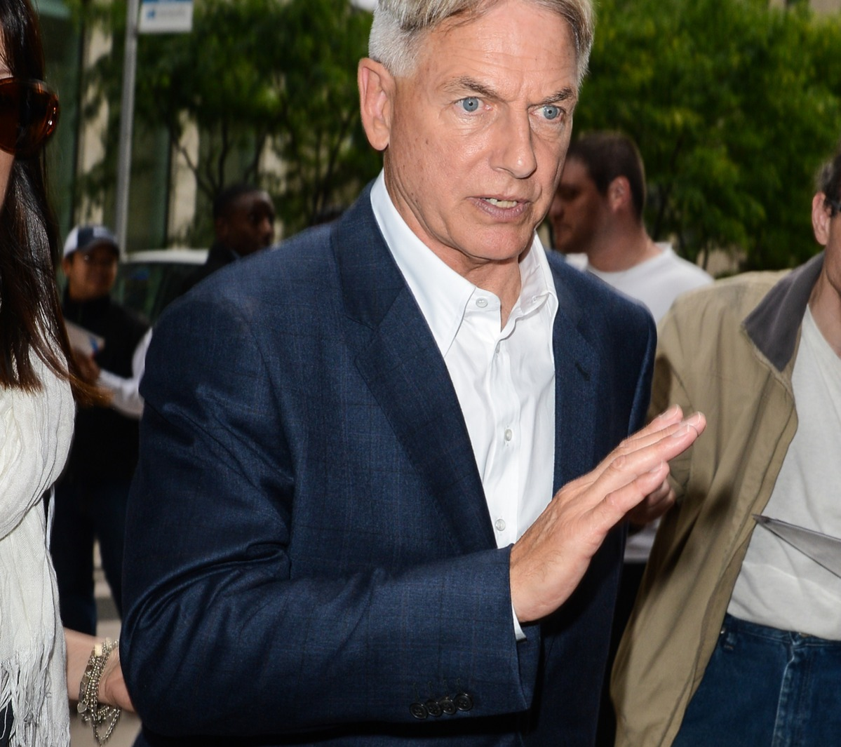 Actor Mark Harmon enters the Sirius XM Studios on September 22, 2014 in New York City.