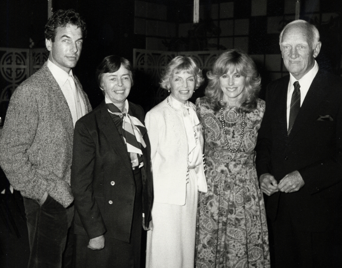 Mark Harmon, Kelly Harmon, Elyse Harmon, Kristin Harmon and Tom Harmon