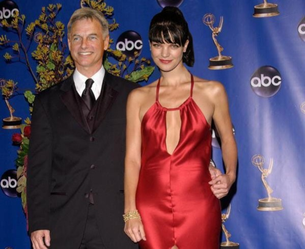 mark harmon and pauley perrette at a red carpet event