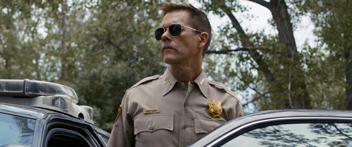 Kevin Bacon stars as a small town sheriff in Cop Car