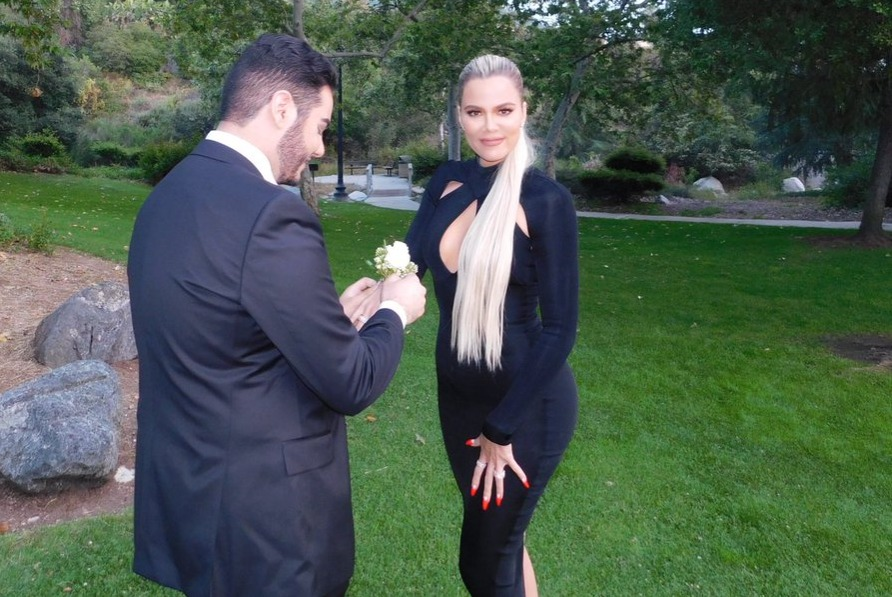 with corsage, tweeted by @khloekardashian on June 1