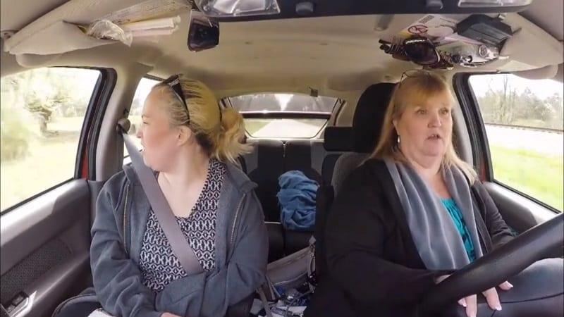 mama june in a car