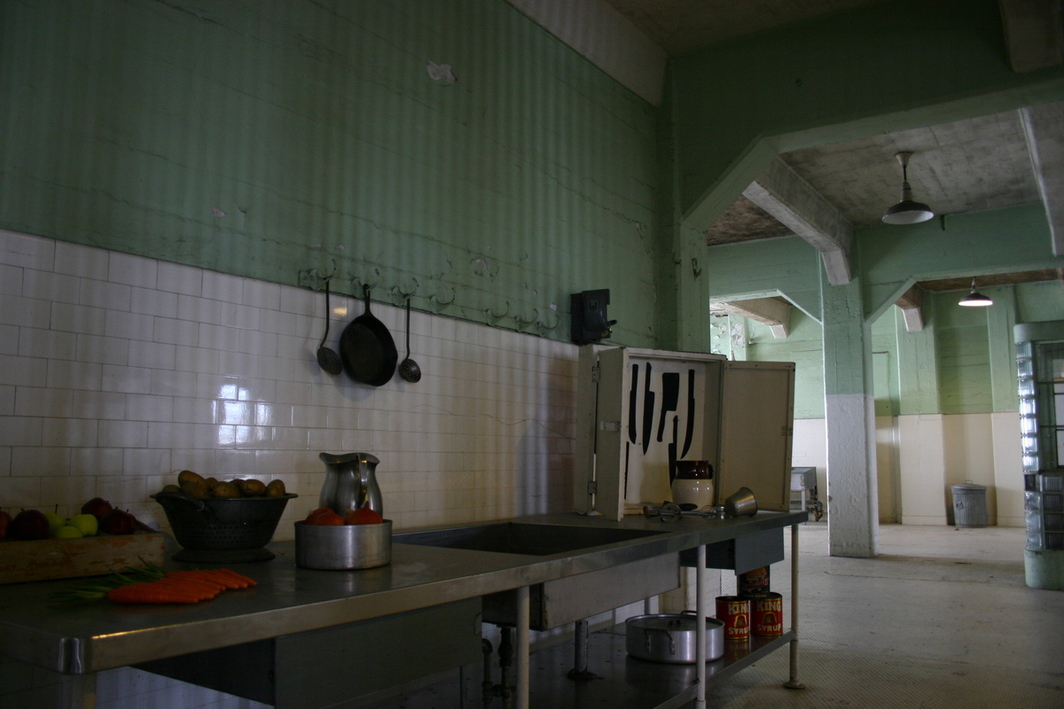 a view of the prison kitchen