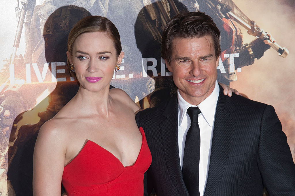 Emily Blunt and Tom Cruise attend the