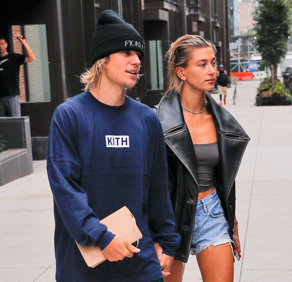 Justin Bieber and Hailey Baldwin are seen on September 14, 2018 in New York City-1033304408