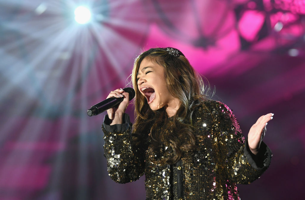 GettyImages-1132399262 Angelica Hale performs onstage during Celebrity Fight Night XXV on March 23, 2019