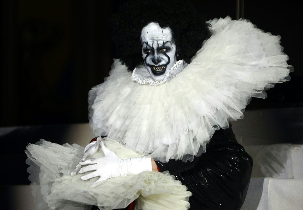 GettyImages-1148611682 A clown performs on stage during the 26th