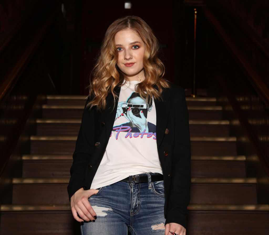 GettyImages-1149418210 Jackie Evancho poses for photos during rehearsals for her new show