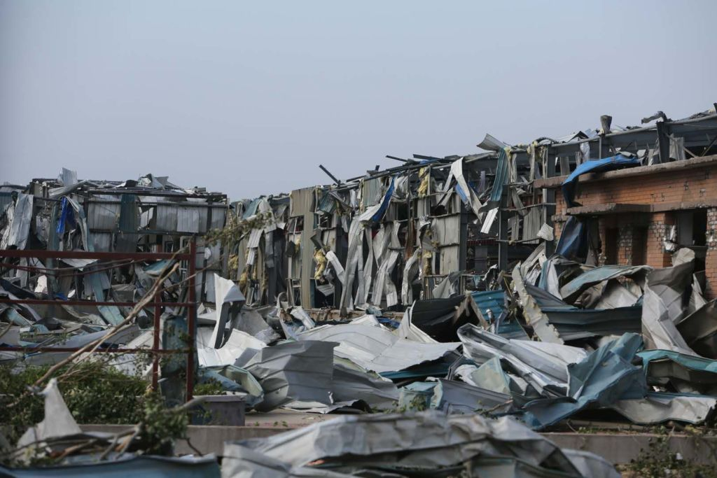 GettyImages-1159998668 Debris of collapsed houses is seen after a tornado hit the area