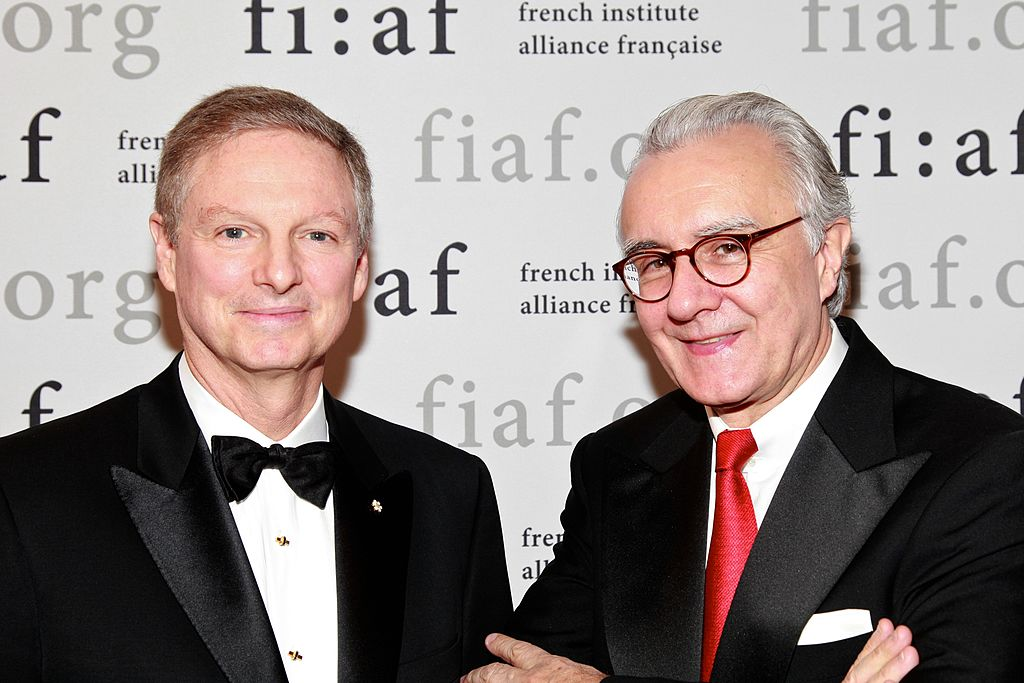 Power Corporation of Canada Chairman and Co-CEO Paul Desmarais Jr. and chef Alain Ducasse attends the 2011French Institute Alliance Francaise (FIAF) Trophee des Arts gala at 583 Park Avenue-135437611