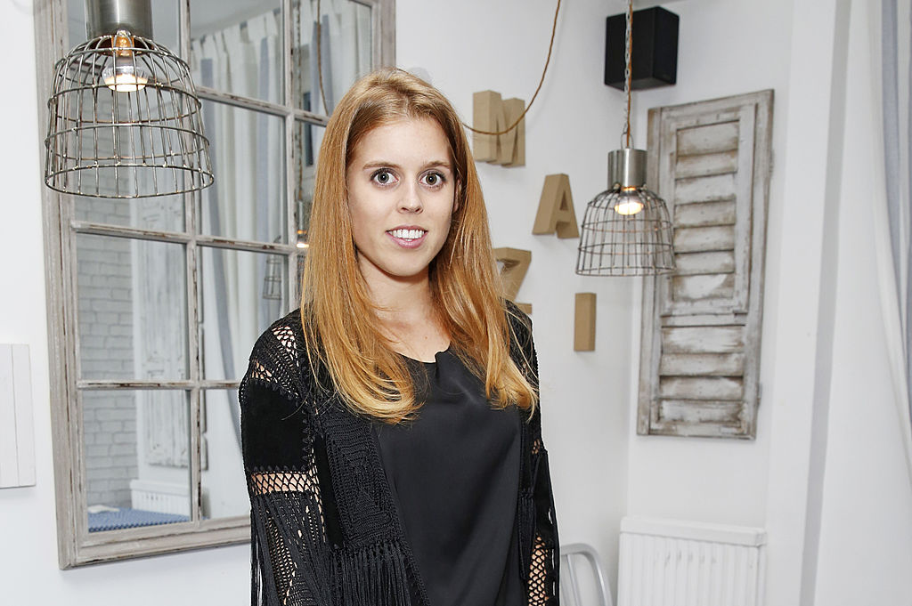 GettyImages-451165520 princess beatrice of York attends Mazi's Summer Party with guest of honor Eugenie Niarchos