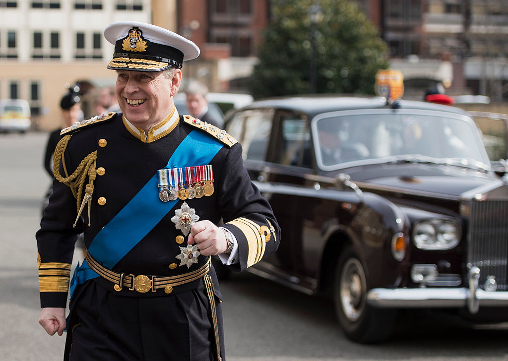 GettyImages-466096470 Prince Andrew, Duke of York arrives for a reception at the Honourable Artillery Company