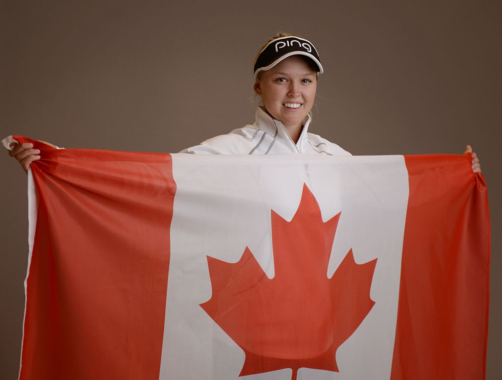 Brooke Henderson poses for a portrait during the KIA Classic at the Park Hyatt Aviara Resort on March 22, 2016 in Carlsbad, California-577065990