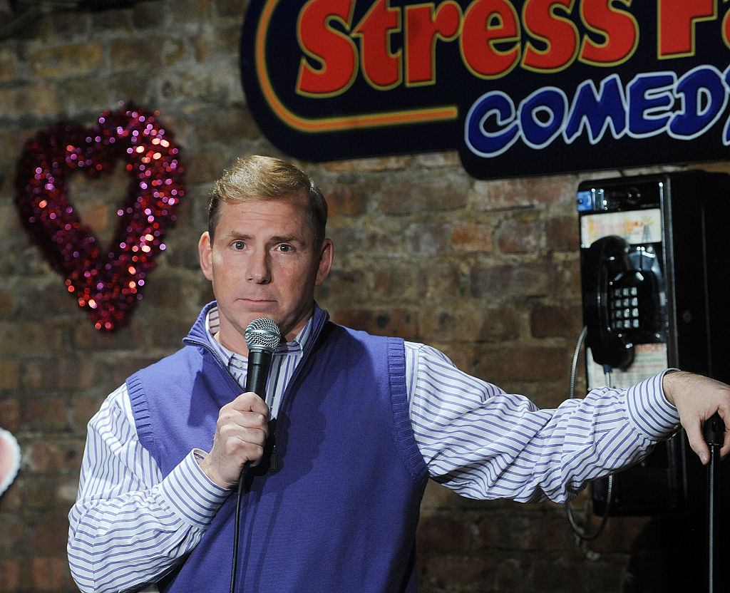 GettyImages-631584246 omedian Tom Cotter performs at The Stress Factory Comedy Club