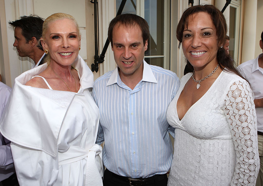 Michelle Herbert, Participant Media CEO and President Jeff Skoll and Lisa Picker attend the Sunflower Children and Maybach Family Foundation Reception at the Villa L'Abri-82763530