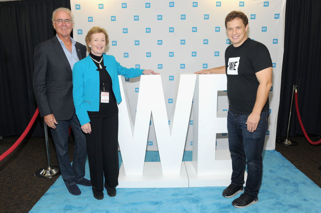 Hartley Richardson, Mary Robinson, and Marc Kielburger attend the WE Day UN at The Theater at Madison Square Garden-850241540
