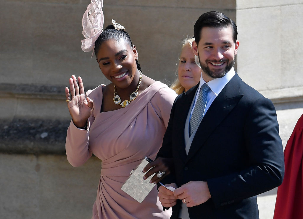GettyImages-960040932 US tennis player Serena Williams and her husband Alexis Ohanian arrive for the wedding ceremony of Britain's Prince Harry, Duke of Sussex and US actress Meghan Markle