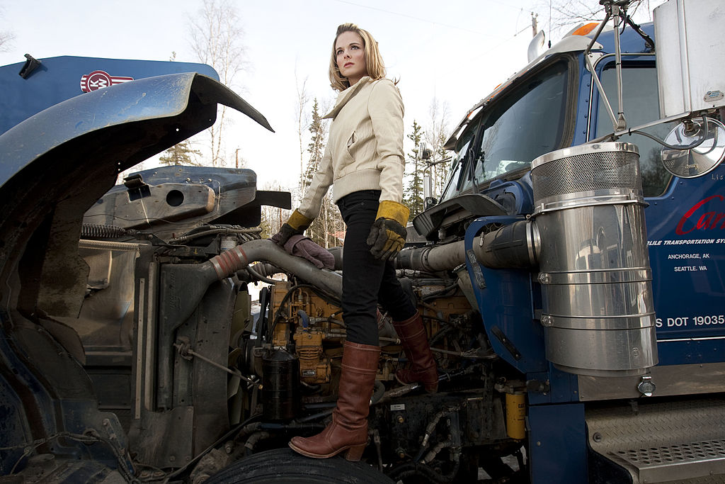 Lisa Kelly, the only female driver for A&E's