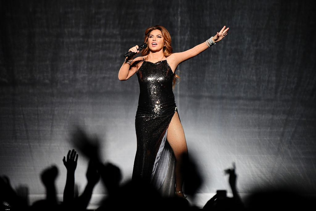 NEW YORK, NY - JULY 14: Canadian singer-songwriter Shania Twain performs at Barclays Center of Brooklyn on July 14, 2018 in New York City. -999167912