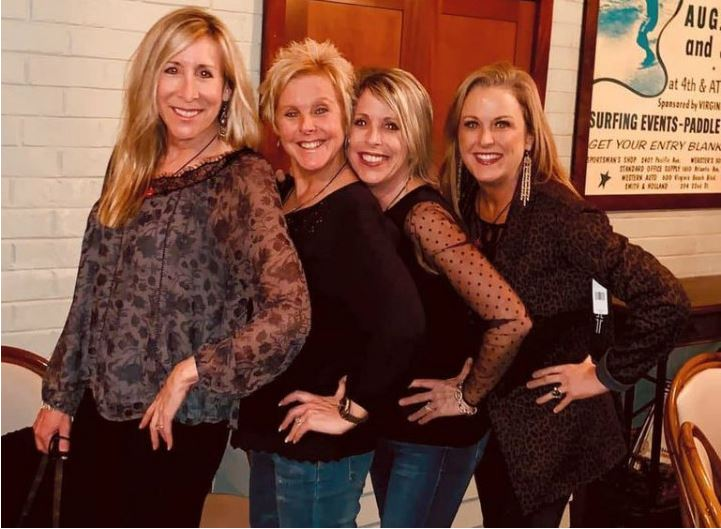 The four sisters - Kristelle, Lisa, Rachelle, and Shannon - together