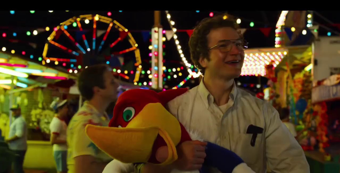 Alexei holding a woody the woodpecker