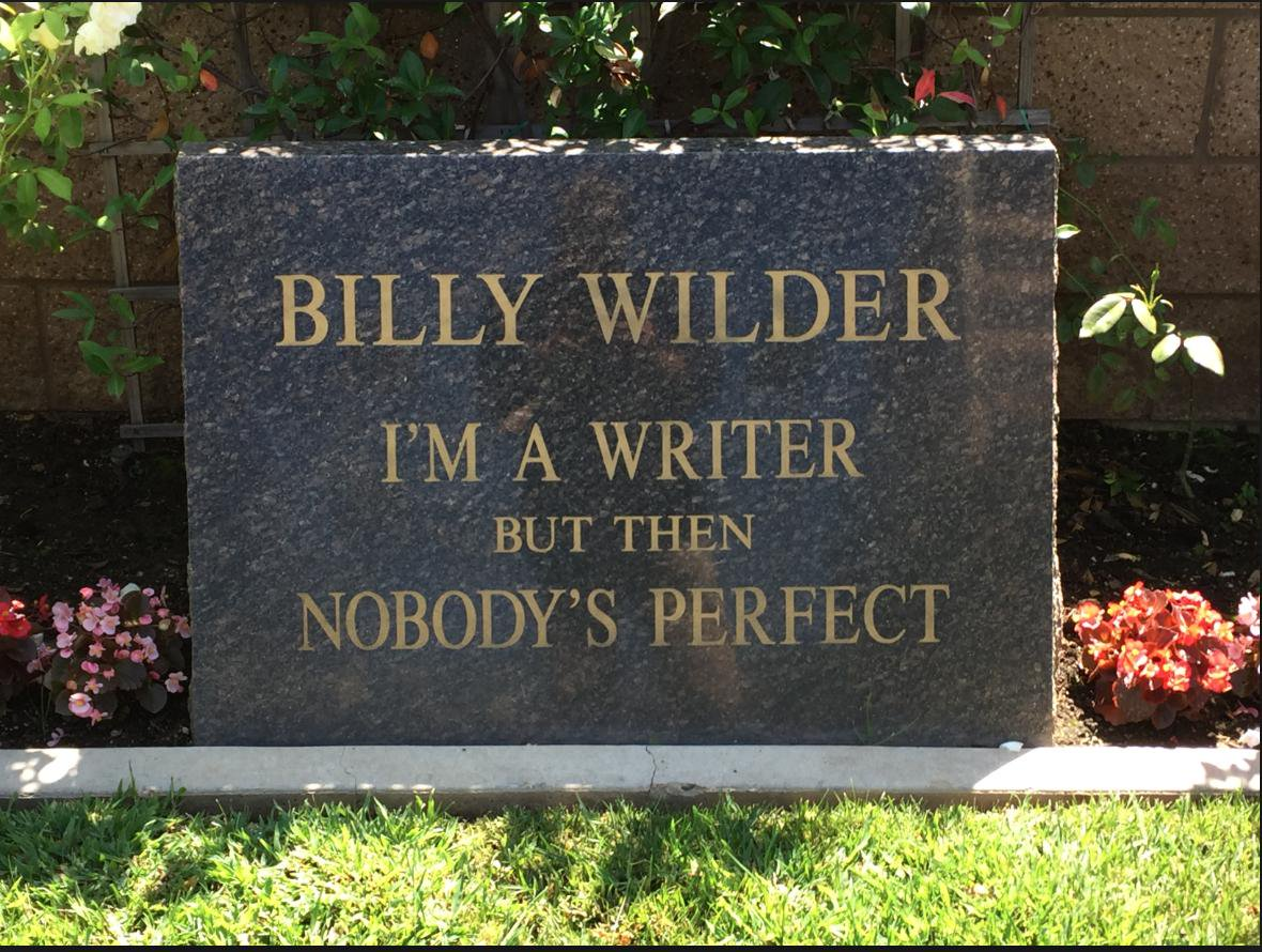 Headstone of Billy Wilder, film director and screenwriter of film noire
