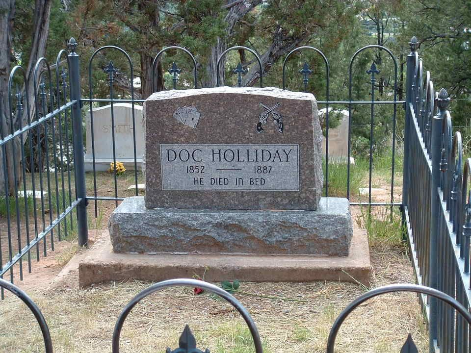 Grave of Doc Holliday, a gunslinger outlaw, in Glenwood Springs, CO.