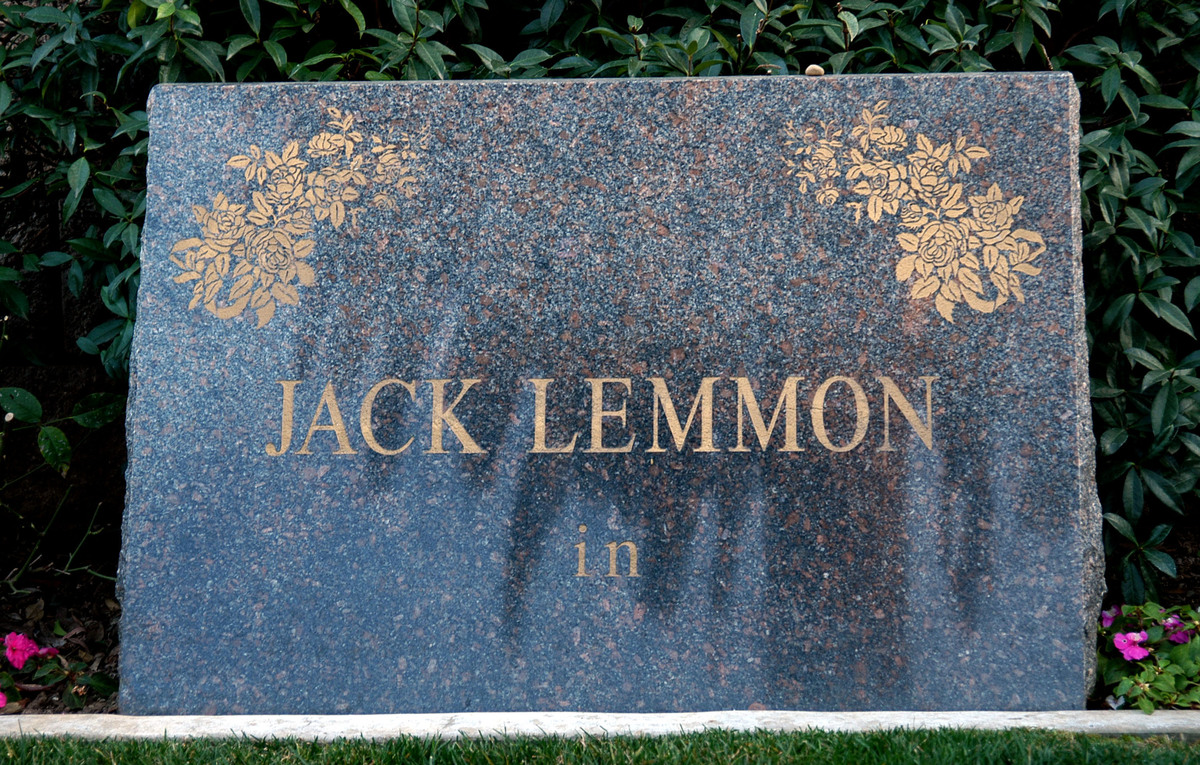 Jack Lemmon's Grave in Westwood Memorial
