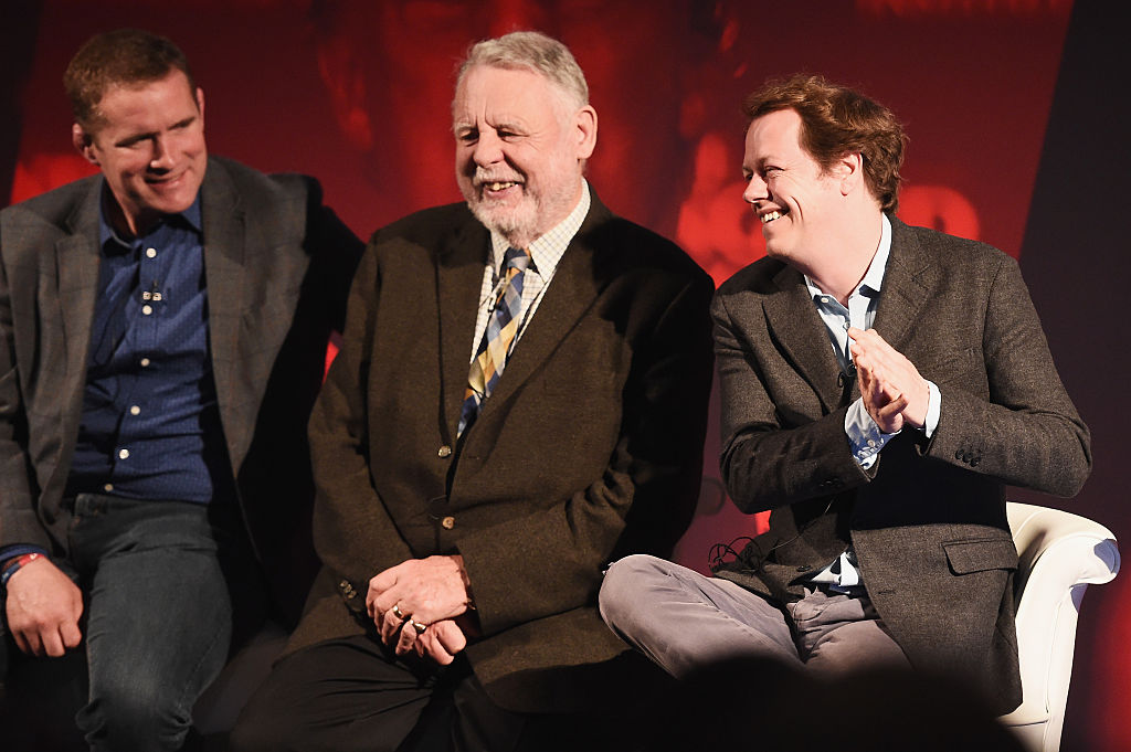Terry Waite Smiles at the audience while hosting the 2016 Advertising Week Europe