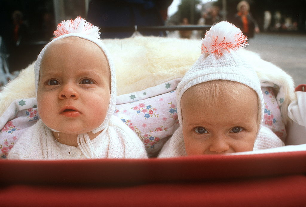Twins in carriage